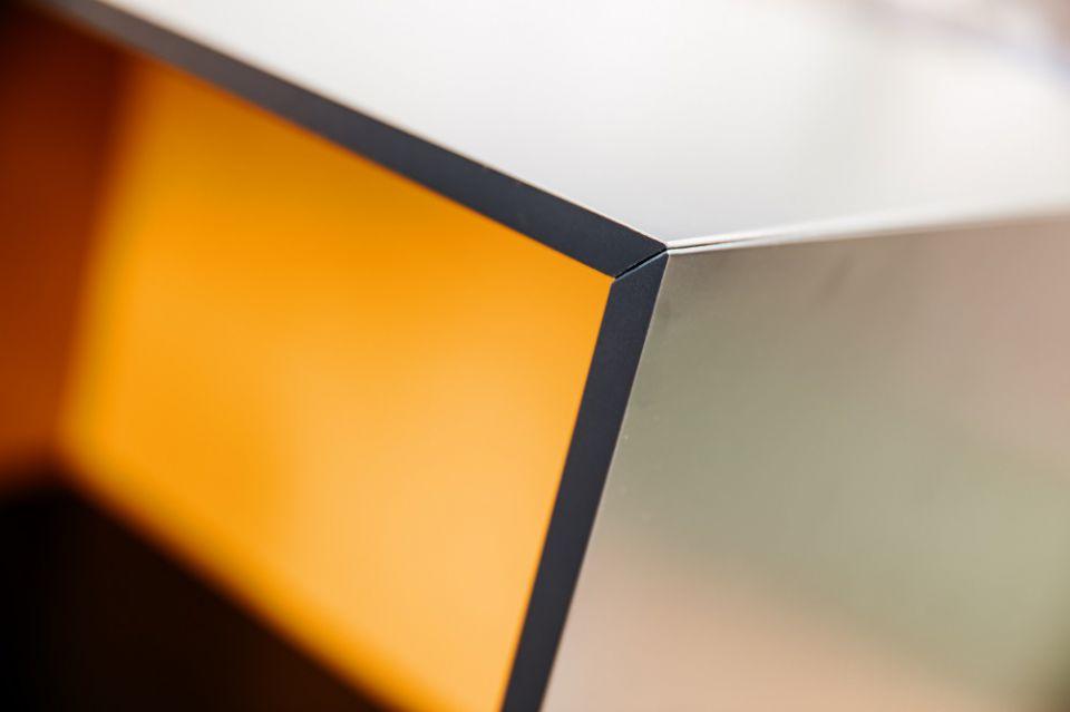 Detail verstekverbinding KLIK en KLAAR in 10 mm materiaal